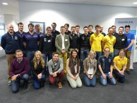 Die Teilnehmer des Daimler Workshops