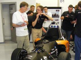 Der FR8 - Chromo beim Design Judging in Silverstone